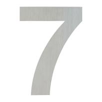 Huisnummer modern RVS 7 plat, 148 mm
