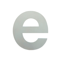 Huisnummer modern RVS letter 'E' plat, 115 mm