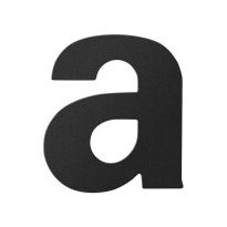 Huisnummer toevoeging letter 'A' zwart, 110 mm