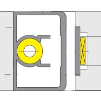 Ivana 4030/LSP opbouw sluitlijst voor dubbele deuren
