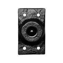Klassieke deurbel KP4748 rechthoekig 45x78 mm smeedijzer zwart