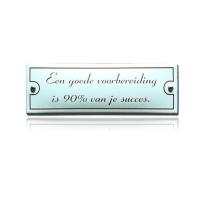 KNH-86 emaille naambordje '90% van je succes'