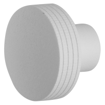 Knop model 4 t.b.v. Mauer knopcilinder wit structuur