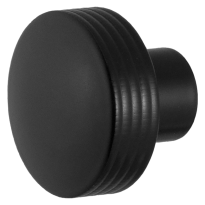 Knop model 4 t.b.v. Mauer knopcilinder zwart egaal
