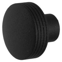 Knop model 4 t.b.v. Mauer knopcilinder zwart structuur