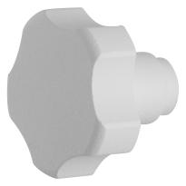 Knop model 5 t.b.v. Mauer knopcilinder wit structuur