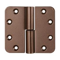 Kogelpaumelle ronde hoek Bronze blend DIN links, 89x96 mm
