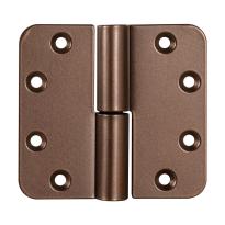 Kogelpaumelle ronde hoek Bronze blend DIN rechts, 89x96 mm