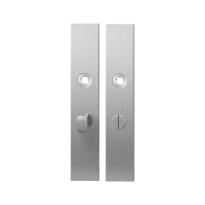 Langschild GPF1100.25 WC55/8 normale knop RVS geborsteld