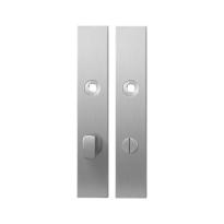 Langschild GPF1100.25 WC72/8 grote knop RVS geborsteld