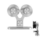 GPF0516.09 enkele schuifdeurhanger Twin RVS