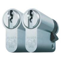 Mauer profielcilinder, standaard serie, halve cilinder gelijksluitend per 2
