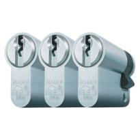 Mauer profielcilinder, standaard serie, halve cilinder gelijksluitend per 3