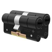 M&C Condor antikerntrek dubbele veiligheidscilinder gelijksluitend per 2, zwart