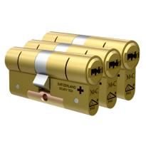 M&C Condor antikerntrek dubbele veiligheidscilinder gelijksluitend per 3, messing