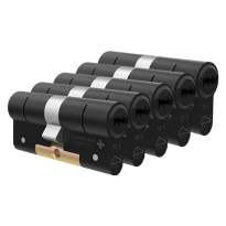 M&C Condor antikerntrek dubbele veiligheidscilinder gelijksluitend per 5, zwart