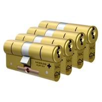 M&C Matrix antikerntrek dubbele veiligheidscilinder gelijksluitend per 4, messing