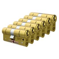 M&C Matrix antikerntrek dubbele veiligheidscilinder gelijksluitend per 6, messing