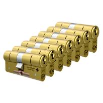 M&C Matrix antikerntrek dubbele veiligheidscilinder gelijksluitend per 7, messing
