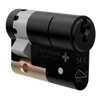 M&C Matrix antikerntrek halve veiligheidscilinder, zwart