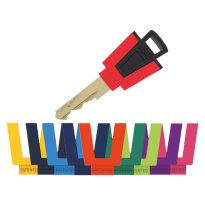 M&C Matrix sleutel met kleurencap