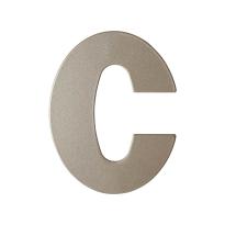 Mocca blend letter C plat, 110 mm