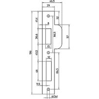 Nemef P 689/17 sluitplaat, rechthoekig