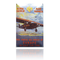 NG-42-KL emaille reclamebord 'KLM Royal Dutch'