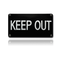NH-100 emaille verbodsbord 'Keep out'