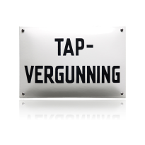 NH-23 emaille naambord 'Tapvergunning'