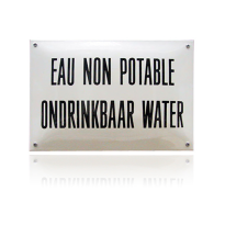 NH-47 emaille naambord 'Eau non potable'