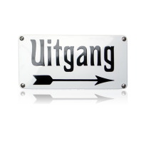 NH-71 emaille naambord 'Uitgang'
