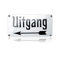 NH-72 emaille naambord 'Uitgang'