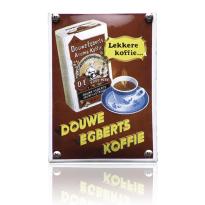 NK-12-DE emaille reclamebord 'Douwe Egberts'