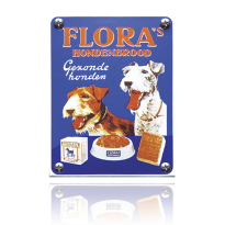 NK-15-FL emaille reclamebord 'Flora'