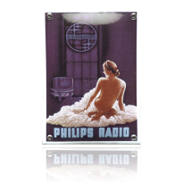 NK-45-PH emaille reclamebord 'Philips vrouw'