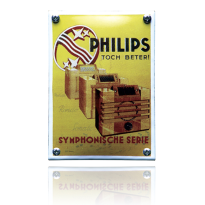 NK-47-PH emaille reclamebord 'Philips geel'
