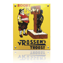 NK-50-RT emaille reclamebord 'Rookt Rossem'