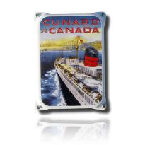 NKO-05-CC emaille reclamebord 'Cunard Canada'