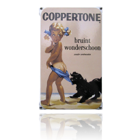 NO-02-CO emaille reclamebord 'Coppertone'