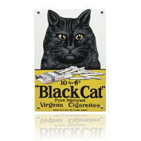 NO-80-BC emaille reclamebord 'Black Cat'