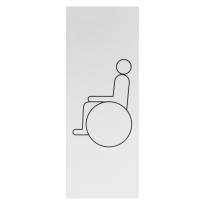 Pictogram 'Mindervalide toilet' aluminium rechthoekig