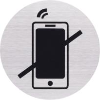 Pictogram RVS 'Verboden te bellen' rond
