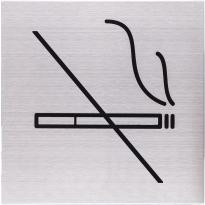 Pictogram 'Verboden te roken' RVS vierkant