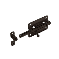 Plaatgrendel 100x50 mm zwart verzinkt