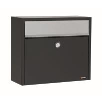 Postkast zwart, 330x390x150 mm