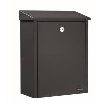 Postkast zwart, 390x280x150 mm