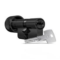 Profielcilinder DOM ix Teco SKG*** modulair, knopcilinder zwart