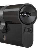Profielcilinder DOM ix Twido SKG**, halve cilinder zwart