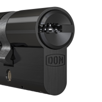 Profielcilinder DOM ix Teco SKG**, halve cilinder zwart